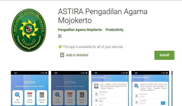 Aplikasi ASTIRA