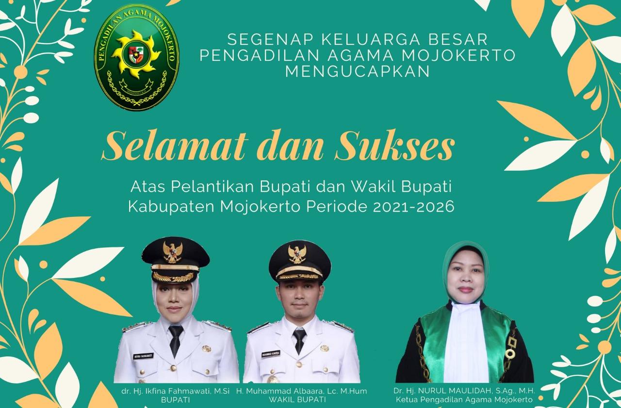 Selamat Atas Pelantikan Bupati & Wakil Bupati Mojokerto